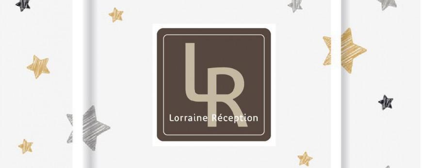La carte de fêtes de fin d'année Lorraine Réception est arrivée