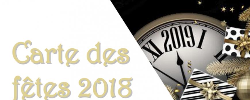 Carte des fêtes édition 2018.